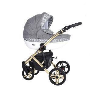 Dječja kolica Kunert MILA Premium GOLD 15 sivo-bijela