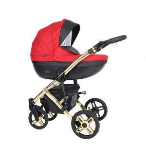 Dječja kolica Kunert MILA Premium GOLD 18 crveno-crna