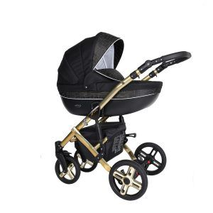 Dječja kolica Kunert MILA Premium GOLD 19 crno-zlatna