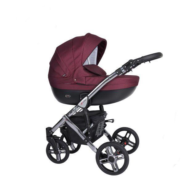 Dječja kolica Kunert MILA Premium SILVER 01 bordo