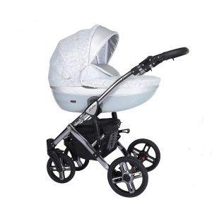Dječja kolica Kunert MILA Premium SILVER 02 siva