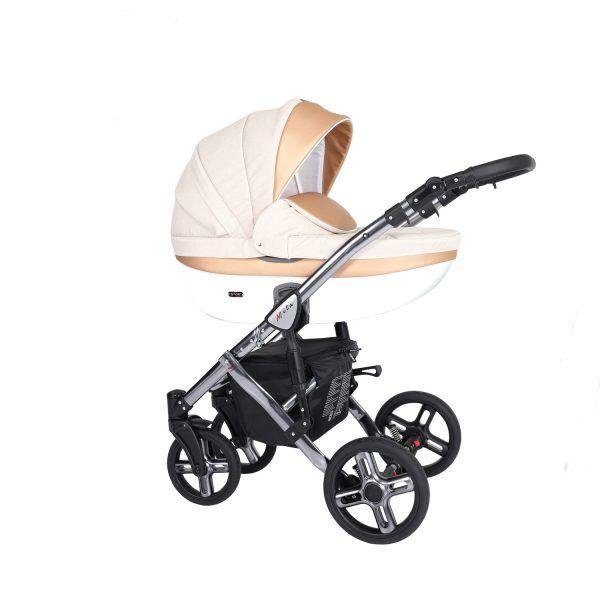 Dječja kolica Kunert MILA Premium SILVER 03 bež
