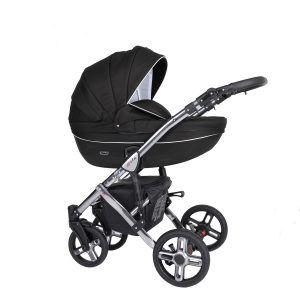 Dječja kolica Kunert MILA Premium SILVER 04 crna