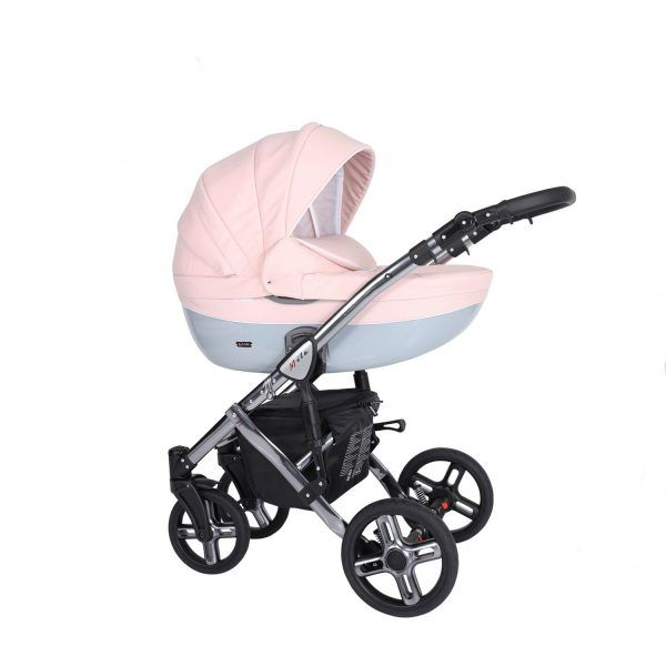 Dječja kolica Kunert MILA Premium SILVER 05 roza
