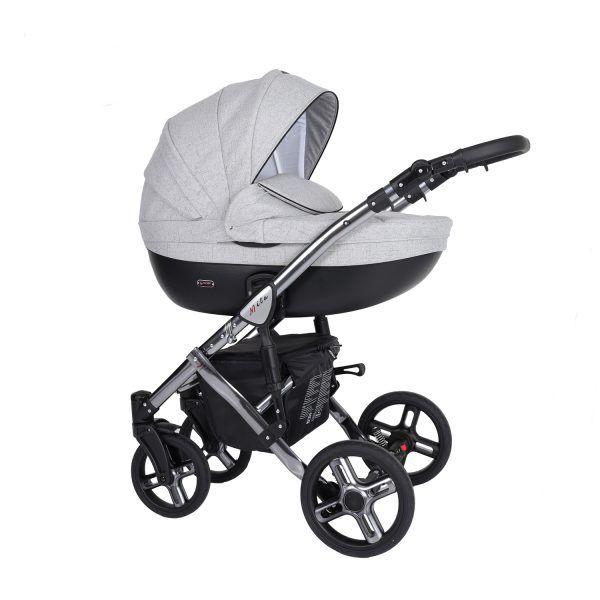 Dječja kolica Kunert MILA Premium SILVER 06 siva