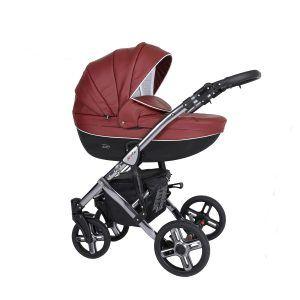 Dječja kolica Kunert MILA Premium SILVER 07 crvena