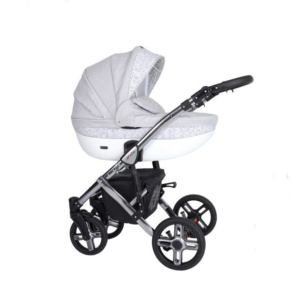 Dječja kolica Kunert MILA Premium SILVER 12 svijetlo-siva