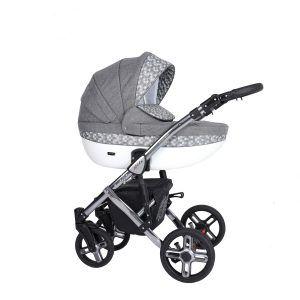 Dječja kolica Kunert MILA Premium SILVER 15 sivo-bijela