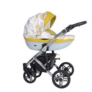 Dječja kolica Kunert MILA Premium SILVER 17 žuta