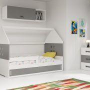 Dječji krevet BMS DOMI bijela konstrukcija-grafit