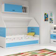 Dječji krevet BMS DOMI bijela konstrukcija-plava