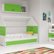 Dječji krevet BMS DOMI bijela konstrukcija-zelena