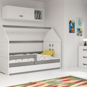 Dječji krevet BMS DOMI grafit konstrukcija-bijela