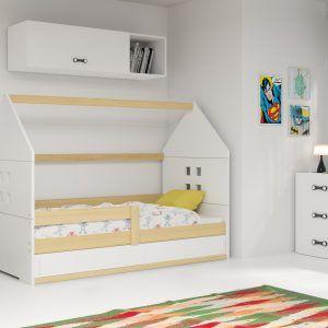 Dječji krevet BMS DOMI natur konstrukcija-bijela