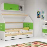 Dječji krevet BMS DOMI s ladicom natur konstrukcija-zelena