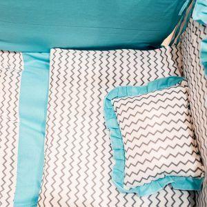 Pinokio set posteljina 7/1 tirkizno plava-krivulje