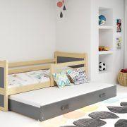 Dječji krevet RICO za dvoje djece PINE (2)