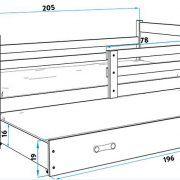 Dječji krevet RICO za dvoje djece dimenzije (2)