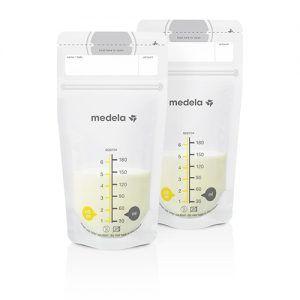 Vrećice za skupljanje i pohranu mlijeka 180 ml