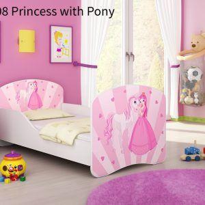 Drveni dječji krevet 08 Princess with Pony