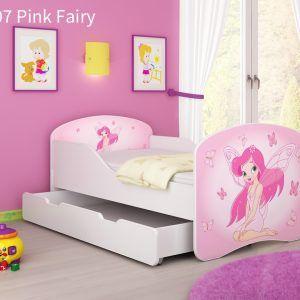 Drveni dječji krevet s ladicom 07 Pink Fairy