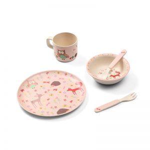 1101-03 set za jelo, rozi 01