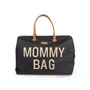 Mommy Bag Big Black Gold Childhome 01