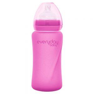 Everyday staklena bocica reagira na toplinu healthy +, 240 ml pink 01